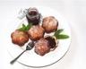 Bottereaux à la vanille fourrés à la confiture fraise / menthe