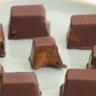 Bouchées au chocolat coeur coulant caramel