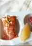 Bouchées de jambon cru fromage frais et pamplemousse