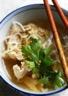 Bouillon de poulet à l'asiatique