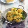 Boulettes pomme de terre épinard et crème parmesan