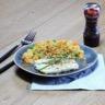 Boulgour aux petits légumes d'hiver filet de poisson vapeur