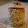 Boulgour sauce au chèvre & morceaux de poires caramélisées