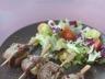 Brochette d'aiguillettes de canard au foie gras (barbecue)