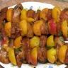 Brochettes abricots/poulet mariné à l'abricot