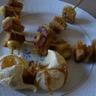 Brochettes banane pain d'épices caramélisées