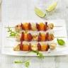 Brochettes de filet de lapin melon et chorizo