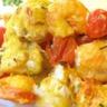 Brochettes de lotte saumon et crevettes et sa marinade au curry et cumin