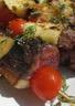 Brochettes de magret de canard ananas et tomates cerises