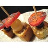 Brochettes de mini-cakes noix lardons et roquefort
