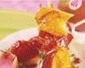 Brochettes de Pink Lady® caramélisées