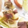 Brochettes de pommes figues et magret de canard