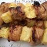 Brochettes de poulet à l'ananas maison
