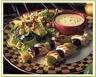 Brochettes de poulet aux pommes sauce mangue