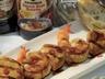 Brochettes de poulet crevettes et ananas