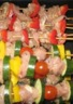 Brochettes de poulet et légumes