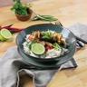 Brochettes de poulet et riz basmati sauce curry