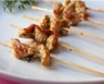 Brochettes de poulet mariné à l'huile d'olive thym et cumin