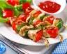 Brochettes de poulet mariné au citron et cumin