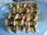 Brochettes de poulet mariné et ananas