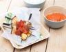 Brochettes de poulet tandoori ananas et courgettes