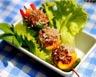Brochettes de viande hachée façon « oursins »