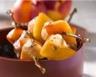 Brochettes de volaille aux nectarines et vinaigre balsamique