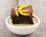 Brownie et sabayon d'orange