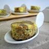 Brownies marbrés à la Fourme d'Ambert et lentilles vertes du Puy