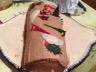 Bûche de Noël poire et chocolat