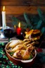 Cailles farcies au foie gras et aux cèpes