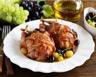 Cailles rôties aux raisins