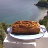 Cake à l'huile d'olive et aux oranges et cerises noires