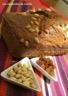 Cake à la courge aux pignons et aux raisins secs