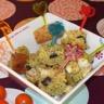 Cake à la polenta amandes et poulet