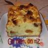 Cake au bleu pommes et pain d'épices