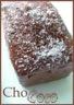 Cake au lait concentré sucré noix de coco glacé au chocolat