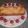 Cake chèvre lardon et pique de jambon tartare