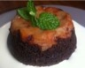 Cake façon tatin aux poires caramélisées et chocolat