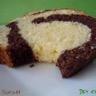 Cake marbré coco et chocolat