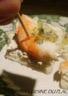 Canapé de fromage frais ciboulette/citron aux crevettes