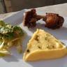 Canard et purée de pommes de terre-potiron au miel