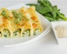 Cannelloni aux courgettes chèvre frais et basilic