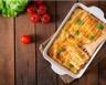 Cannellonis au poulet sur épinards à la crème