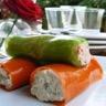Cannellonis de poivrons à la mousse de thon et saumon