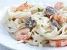Carbonara aux crevettes sans gluten et sans lactose
