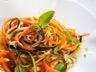 Carottes et courgettes râpées en salade