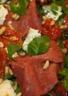 Carpaccio de boeuf en salade