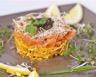 Carpaccio de légumes croquants et saumon fumé