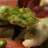 Carpaccio de magret de canard à l'huile de pistache frites d'asperges du Blayais